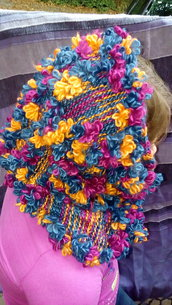 sciarpa lana multicolore