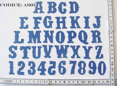 Fustellato in Feltro Alfabeto Alteration AS03