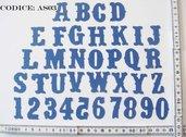 Fustellato in Pannolenci Alfabeto Alteration AS03P