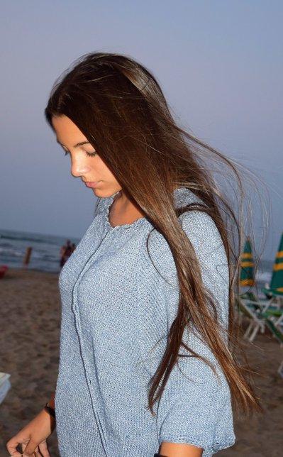 maglia estiva azzurra