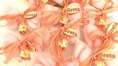 OFFERTA PROMOZIONALE FIMO - BOMBONIERE COMPLETE -FOLLETTI   - con sacchettino confetti e in OMAGGIO targa con nome