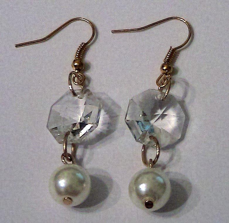 Orecchini con cristallo Swarovski e perla