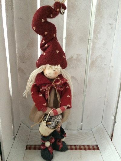 Follettina del bosco,bellissima idea da regalare , o decorare casa in attesa del Natale. Addobbando casa .