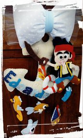 Fiocco nascita marino - l'ancora e il pirata Jake :-)