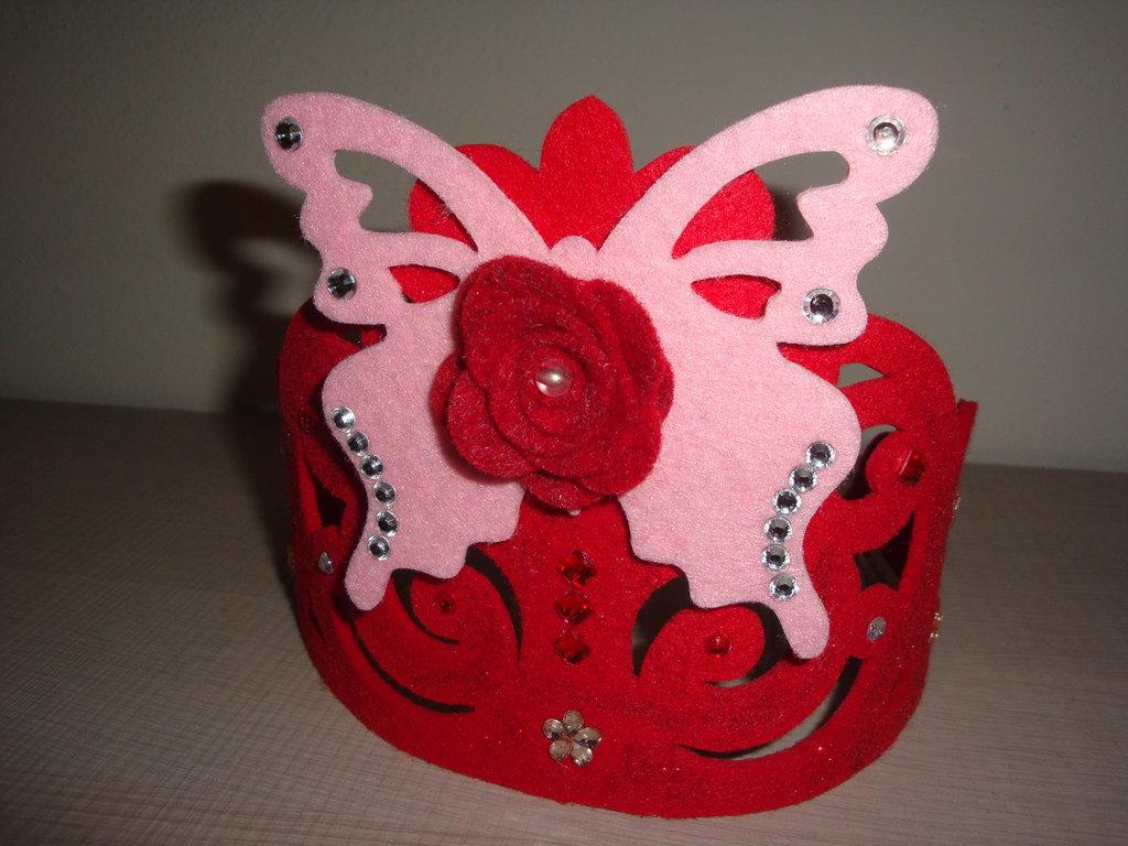 "Corona ""principessa"" per bambina in feltro"