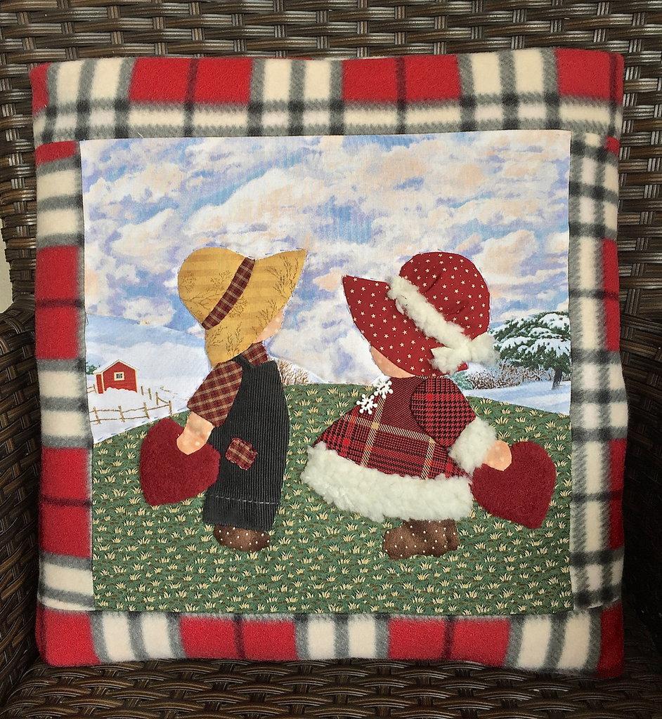 cuscino quillow Sue e Billy- un cuscino con dentro un plaid