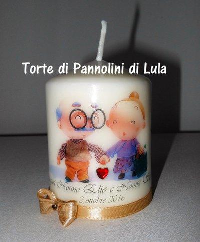 festa dei nonni idea regalo candela laccata nome disegno foto personalizzati