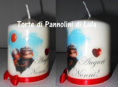 festa dei nonni idea regalo candela laccata nome disegno foto personalizzati up