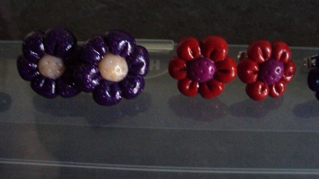 fiori a perno in fimo