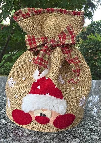 Natale - porta panettone con Babbo Natale