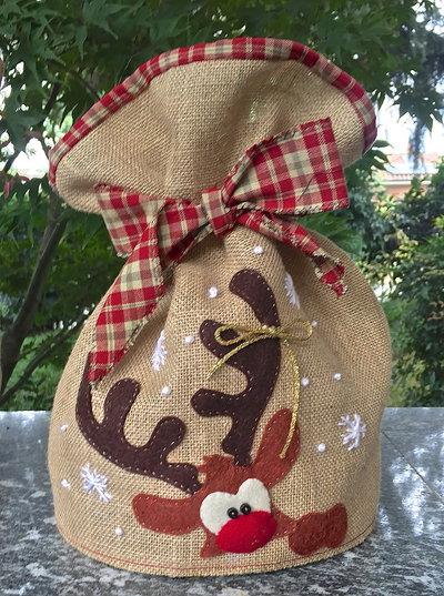 Natale - porta panettone con la renna