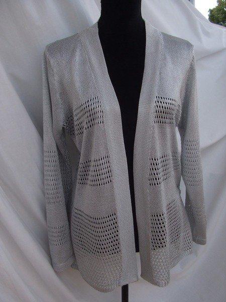 cardigan donna maglia viscosa grigia