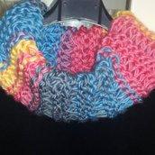 Scaldacollo ad anello FATTO a MANO ai ferri a punto legaccio handmade scarf