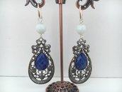 Orecchini pendenti in Agata e metallo