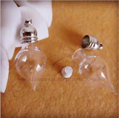 50 pezzi lotto 27x11mm Bottigliette Ampolle Vetro Vuote per creative