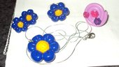 collana,orecchini e anello blu