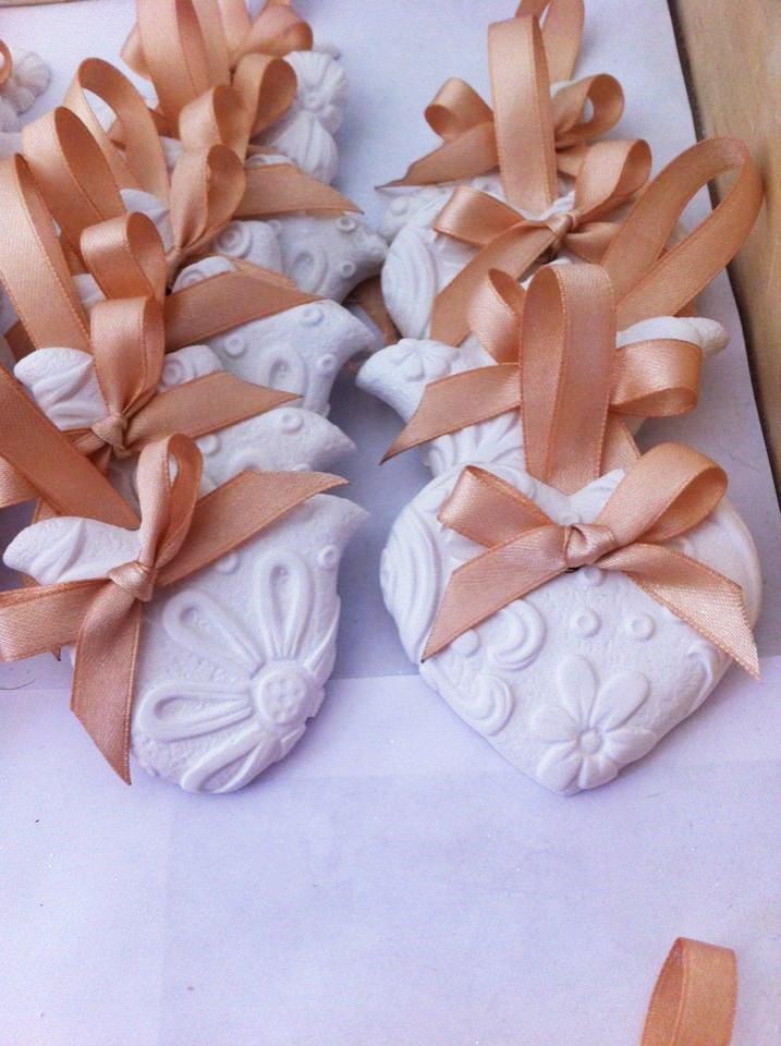 segnaposto in gesso ceramico