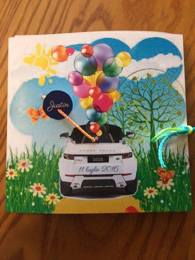 Invito Primo Compleanno soggetto land rover