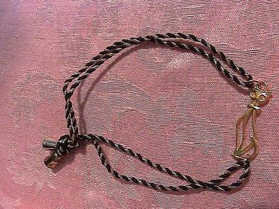 Bracciale/cavigliera con gatto in argento tibetano dorato