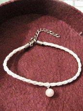 Bracciale/cavigliera con perla
