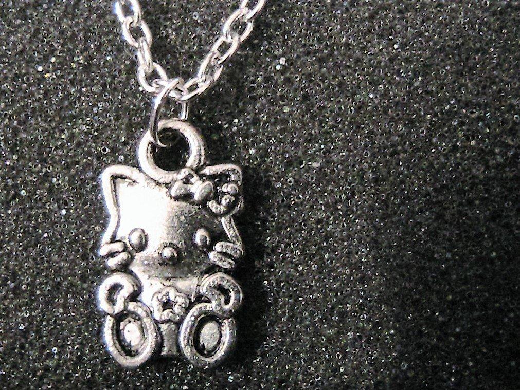 Collana con charm Hello Kitty in argento tibetano