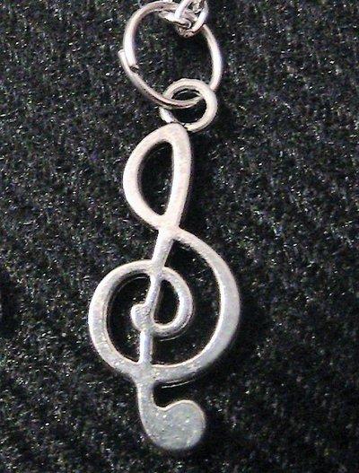 Catenina con chiave di violino in argento tibetano