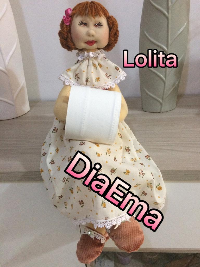 Bambola porta rotolo igienico