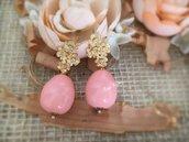 Orecchini con Monachella in ottone e perla