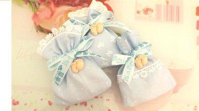 BOMBONIERA COMPLETA DELUXE - Battesimo nascita - fimo - PIEDINI con strass PUNTO LUCE  Sacchetto con pizzo BIMBO