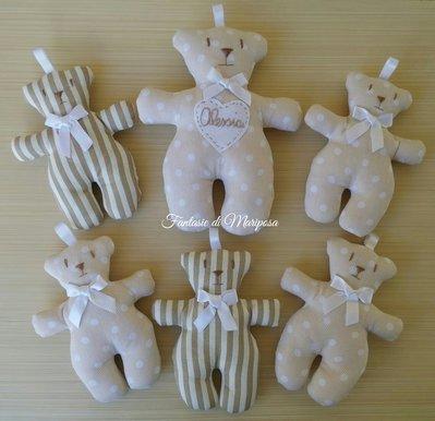 Orsetti tilda portaconfetti - Bomboniera per nascita,battesimo,comunione,compleanno
