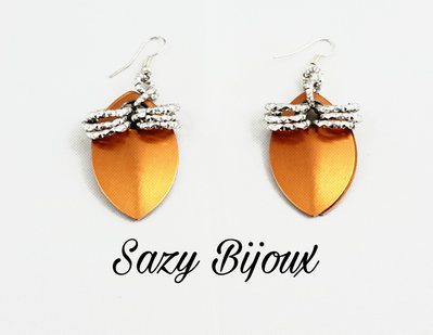 Orecchini PETALO Metal Arancio