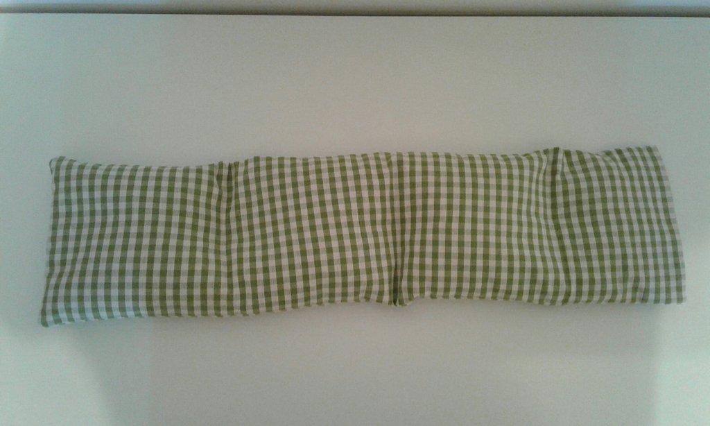 Cuscino lungo 55x15 per la COLONNA VERTEBRALE di ciliegia sfoderabile riscaldabile in forno o microonde