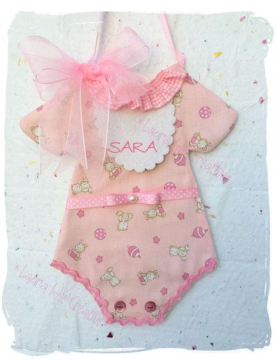 Fiocco nascita vestitino o tutina