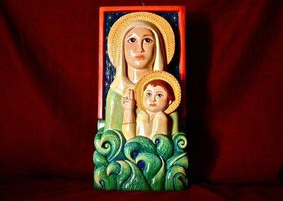 """Scultura in legno """"Madonna dell'Acqua"""""""