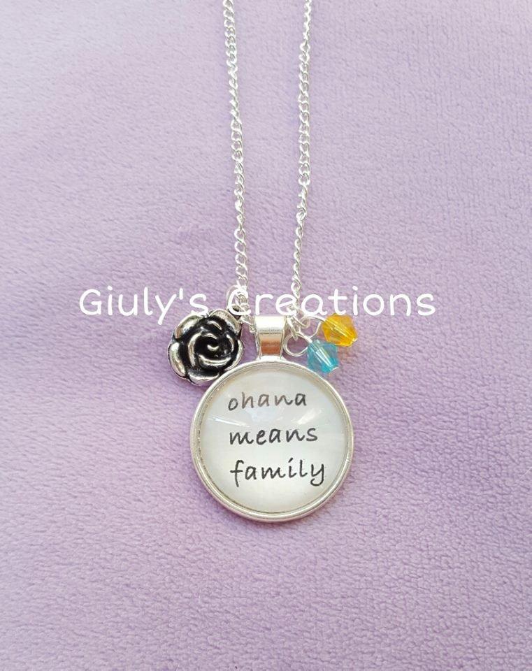 Collana lilo stitch ohana means family significa