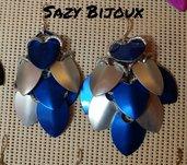 Orecchini PIGNA Blu e Argento