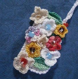 Collana in cotone con ciondolo rettangolare