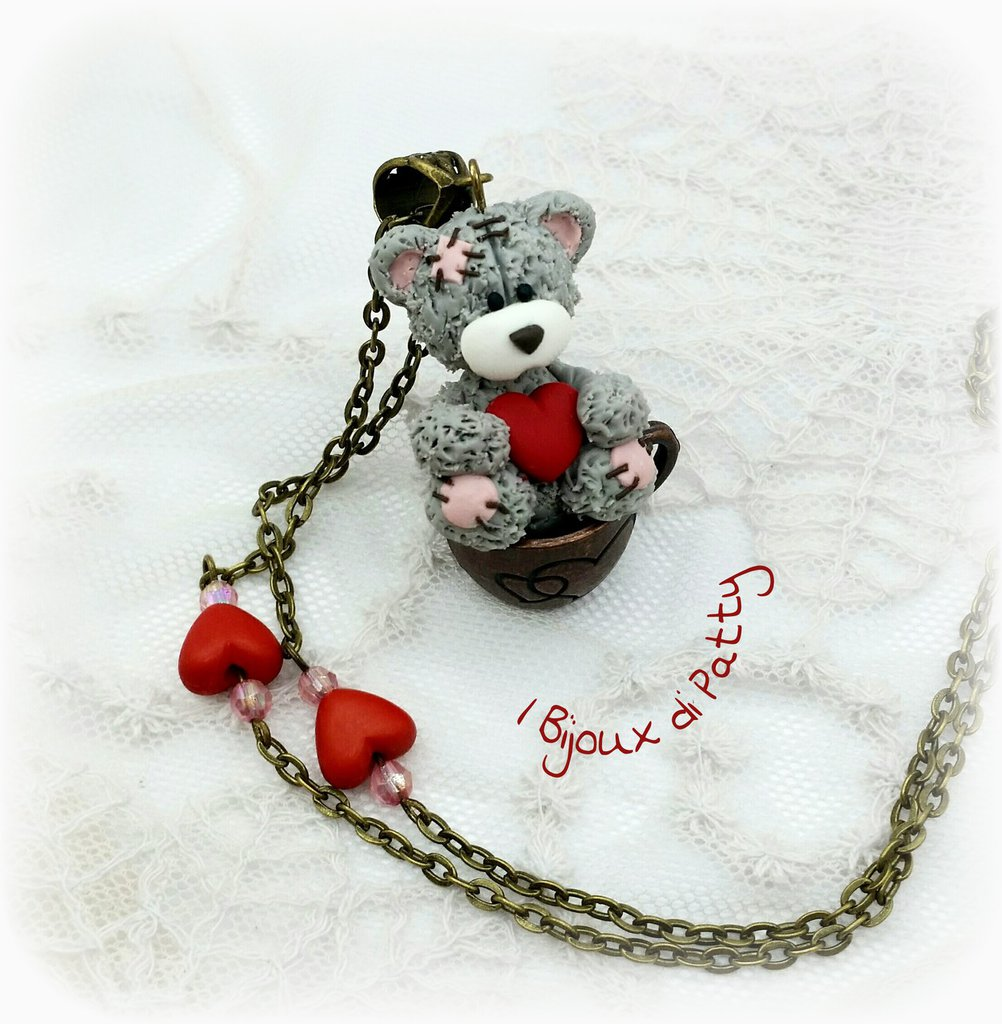"Collana con ciondolo ""Love Teddy Bear"""
