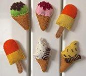 Calamite per frigorifero, gelati in feltro