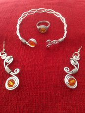 Parure Orange Wire