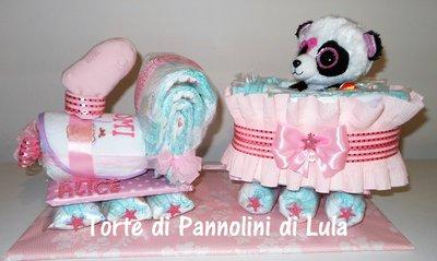 Torta di Pannolini Pampers Treno- idea regalo, originale ed utile, per nascite, battesimi e compleanni