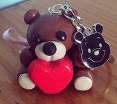 Portachiavi orsetto con ciondolo Winnie the Pooh
