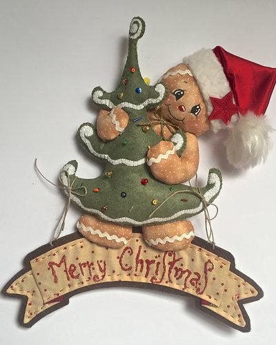 Natale - fuori porta Ginger  MERRY CHRISTMAS con Albero di Natale