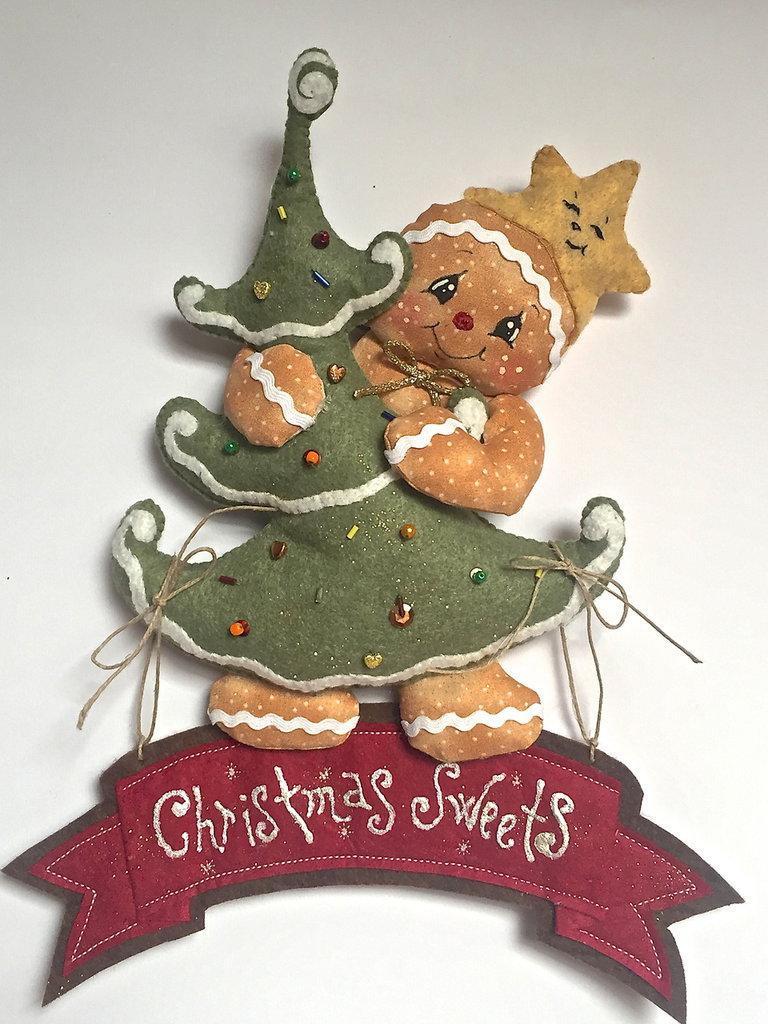"""Natale - fuori porta Ginger """"CHRISTMAS SWEETS""""  con Albero di Natale"""