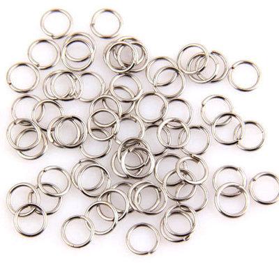 Anellini apribili 5mm tono argento 500pz