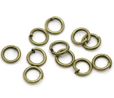 Anellini apribili 5mm tono bronzo 460 pz circa