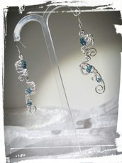 Orecchini in Argento 925 con Topazi london blue