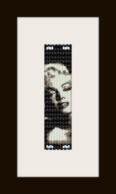 PDF schema bracciale Marilyn in stitch peyote pattern - solo per uso personale