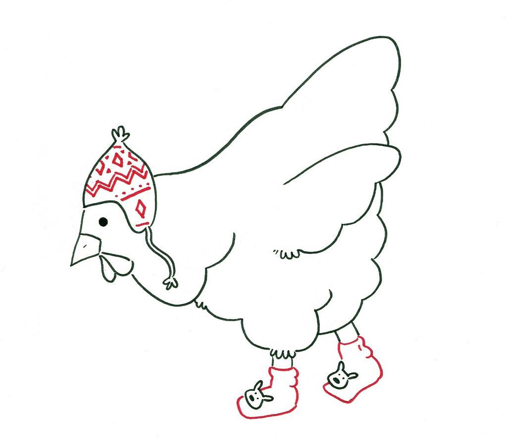 la gallina col cappello.
