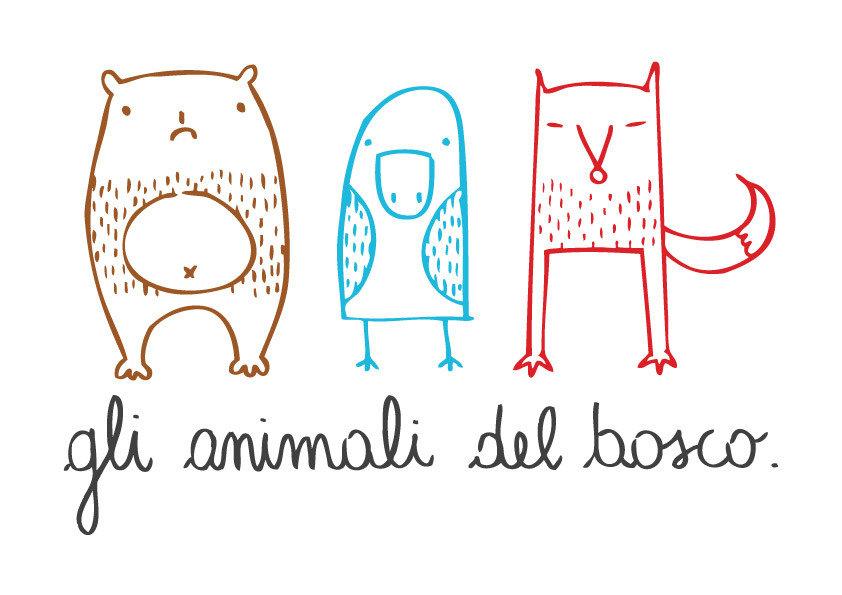 gli animali del bosco.